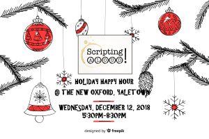 Scripting Aloud networking film industry holiday event Vancouver